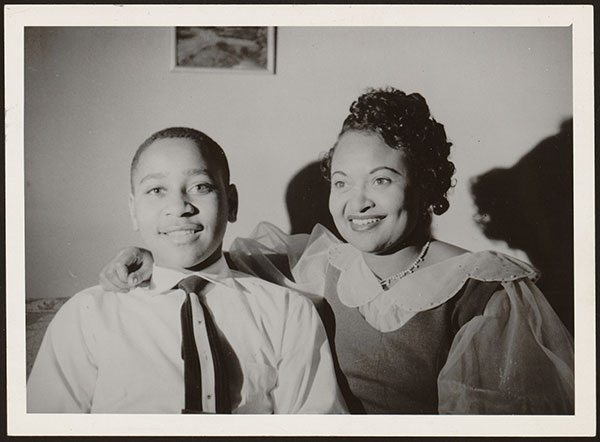 A portrait of Mamie Bradley and her son Emmett Till.