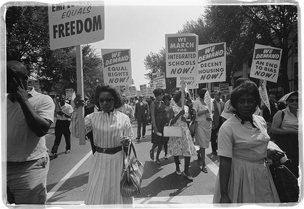 African American protest for equal rights, 1963.