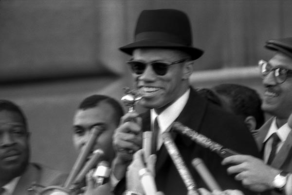 Malcolm X at a NYC Rally, 1964.