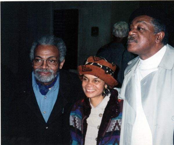 Sonia Sanchez and Amiri Baraka, and others, circa 1996.
