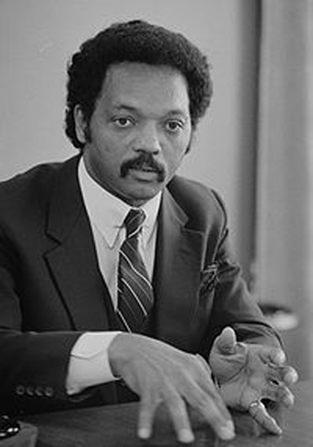 Jesse Jackson speaking during an interview in July 1, 1983.