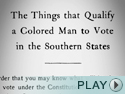 Jim Crow Laws in the South.